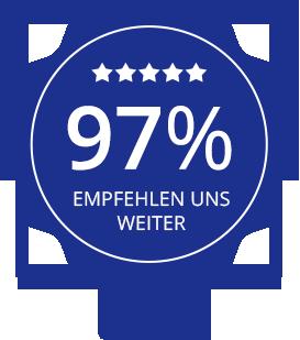 Easy-Chek wird von 97% der Kunden weiterempfohlen.