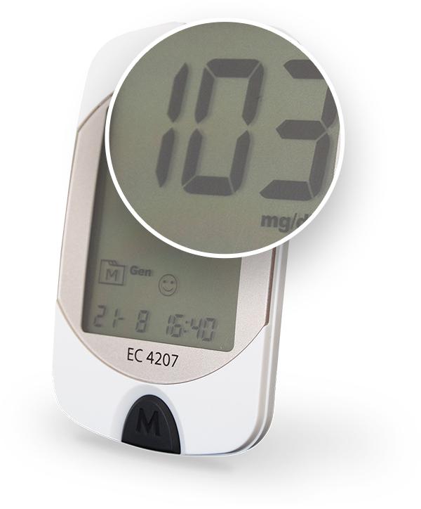 Ein Blutzuckermessgerät mit Display, wie es sein sollte.
